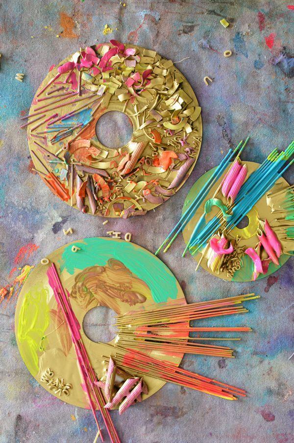 Pasta Sculptures Art Projects for Preschoolers | Shadow box frames ...