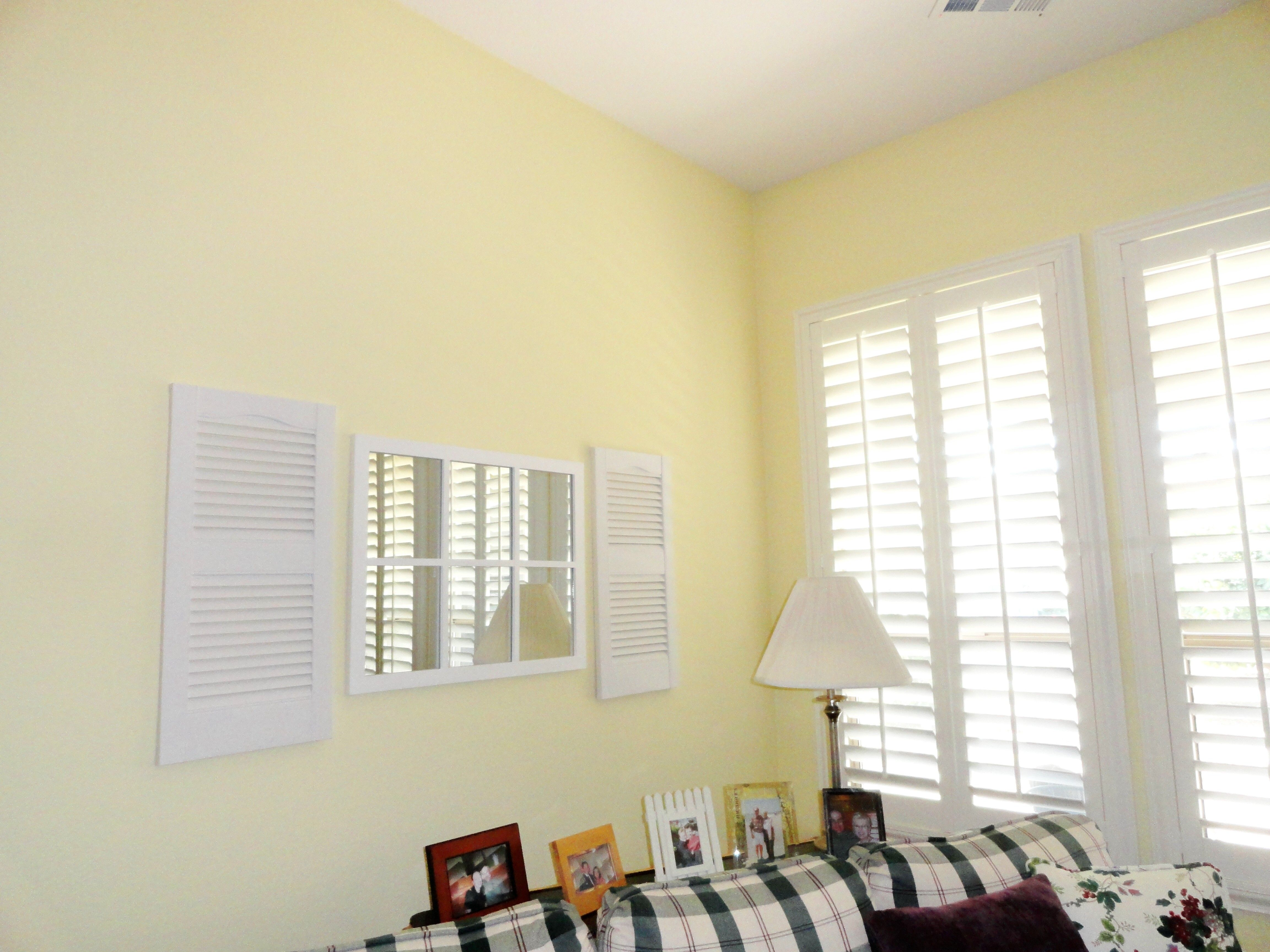 Found the window pane mirror at Hobby Lobby and ordered the little ...