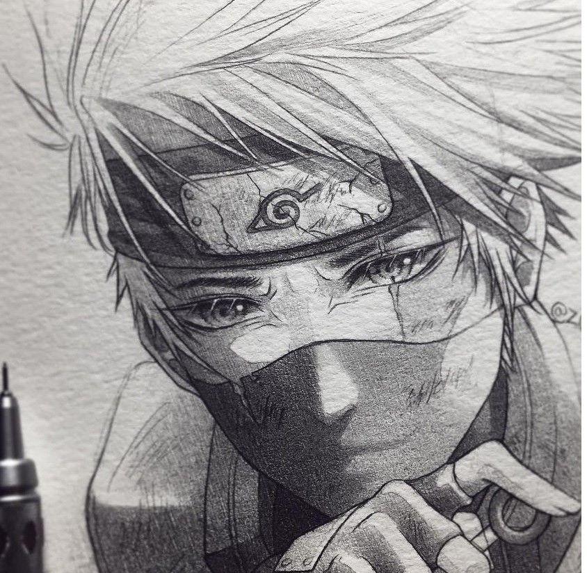 Kakashi Dibujos De Kakashi Dibujos De Anime Arte De Naruto