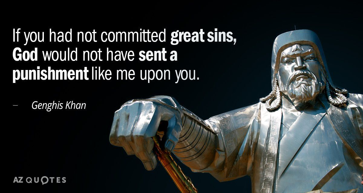 Genghis Khan Quote Genghis khan quotes