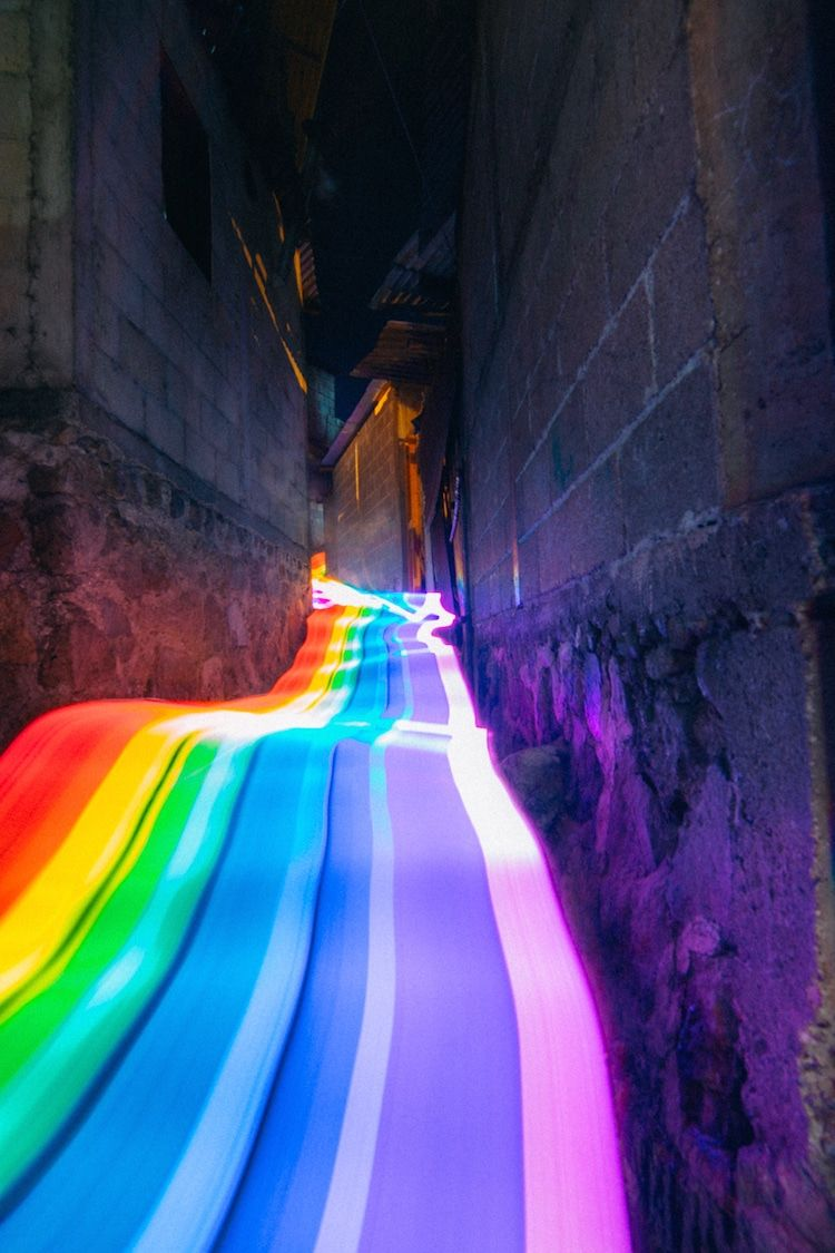 Vibrant Rainbow Roads Illuminate Forests And River Bends Into Magical Landscapes In 2020 Rainbow Road Rainbow Wallpaper Rainbow Aesthetic