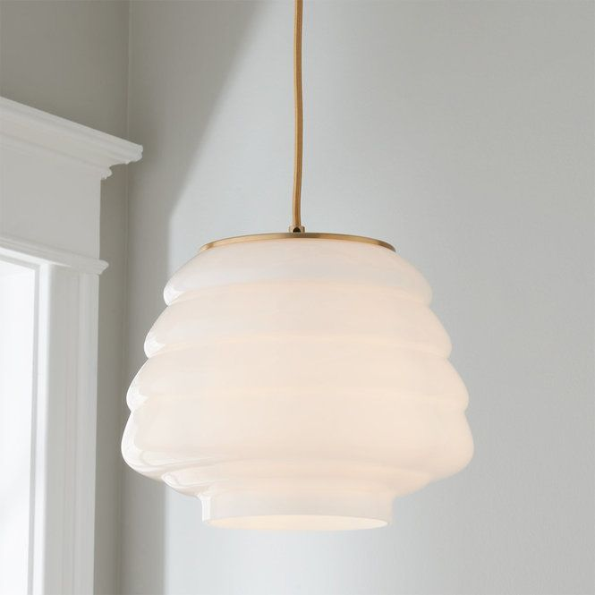 Sculptural Glass 3 Light Ribbed Chandelier Champagne