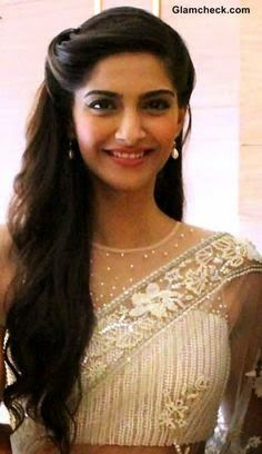 Elegant Loose Curls On The Side For Long Hair Indian Bride Sonam Kapoor Curated