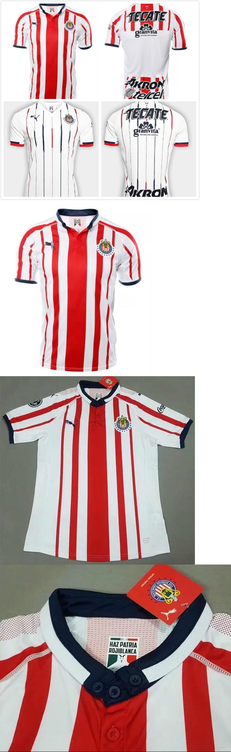 f42b8f215b24 ... inexpensive clothing 33485 new 2018 19 chivas guadalajara home away soccer  jersey short sleeve t shirt