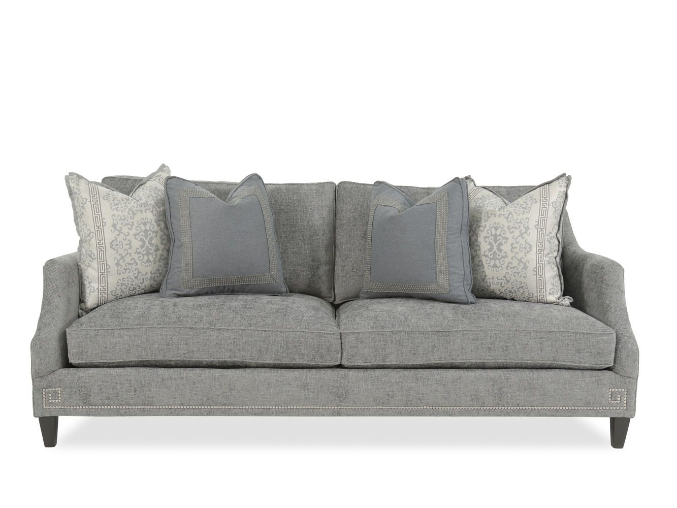 Bernhardt Layla Gray Sofa Mathis Brothers Furniture