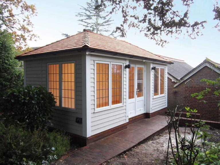 Garden Room with Deeper Windows garden sheds Pinterest