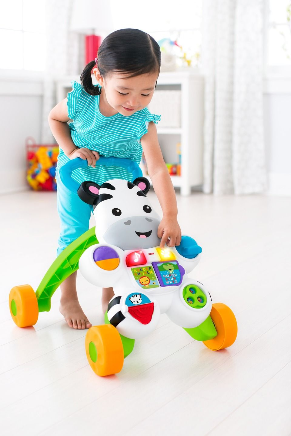 FisherPrice Learn with Me Zebra Walker Toddler toys