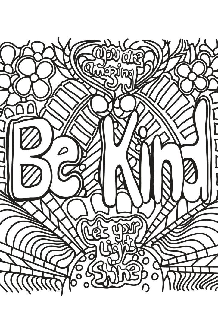 Kindness Coloring Pages | Quote coloring pages, Coloring ...