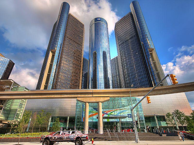 General Motors World Headquarters In Renaissance Center Detroit