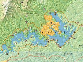 Lake James Nc Google Search Mountain Getaways Pinterest - North carolina lakes map