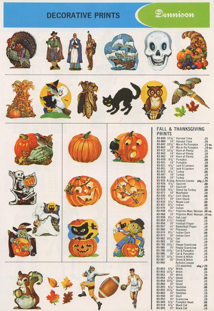 Dennison 1966 Fall Catalog Page Vintage Halloween Pinterest