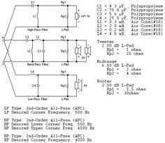 3 Way Crossover Speaker Circuit Electronics Circuit Circuit Electronic Schematics