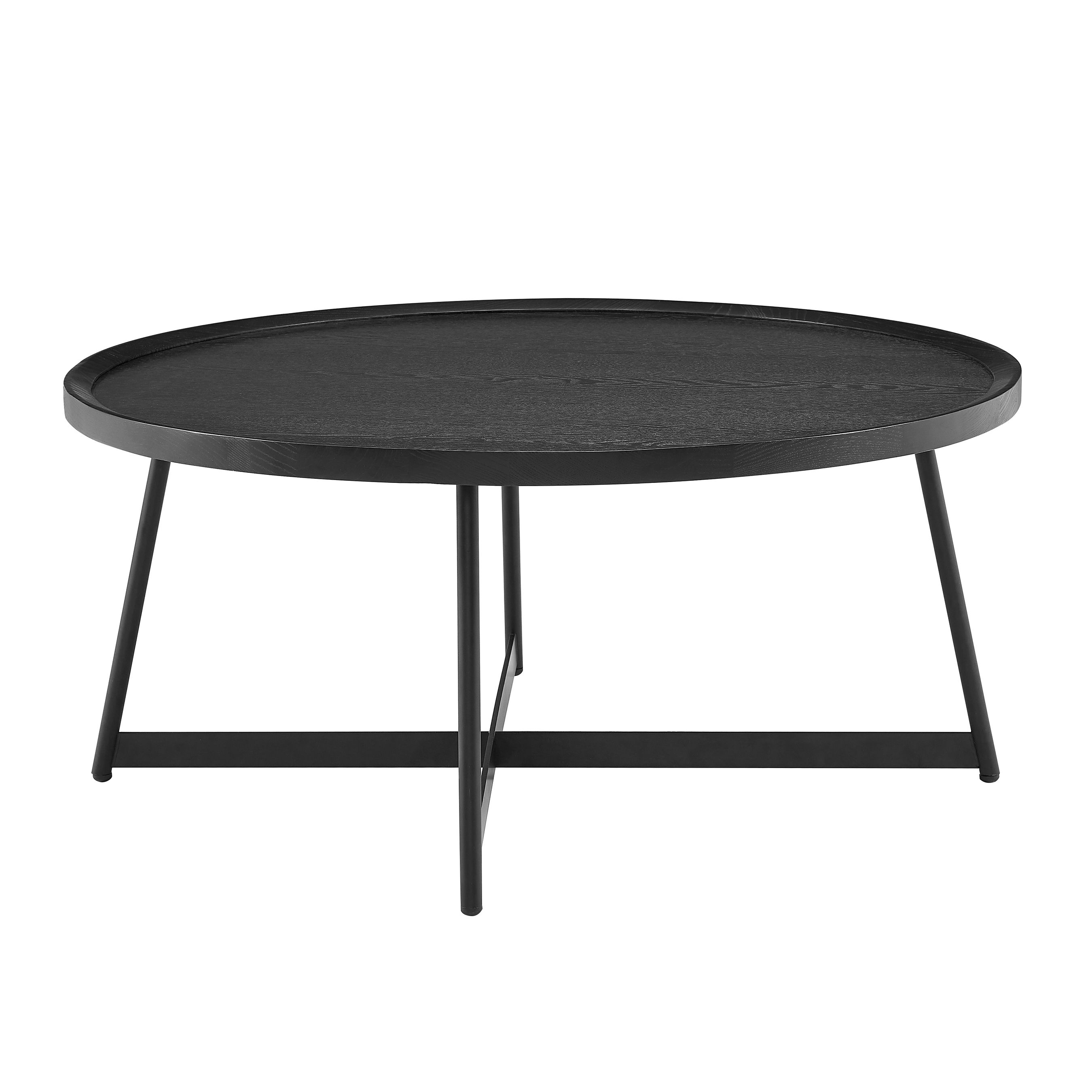 Niklaus Niklaus 35 Round Coffee Table In Black Ash Wood And Black Ashley Furniture Homestore Cheap Coffee Table Coffee Table Round Coffee Table [ 2700 x 2700 Pixel ]