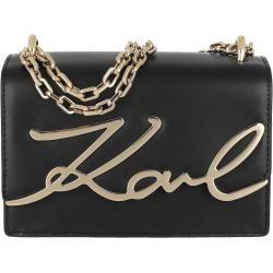 Photo of Karl Lagerfeld Signature Small Shoulder Bag Black/Gold in schwarz Umhängetasche für Damen Karl Lager