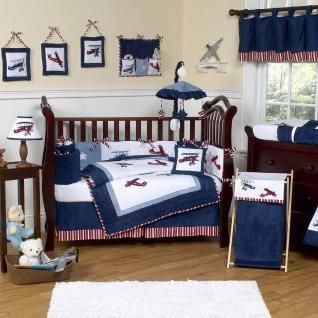 This Charming Baby Boy Crib Bedding Set Uses Navy And Sky Blue Borders With A Red And White Crib Bedding Boy Boys Crib Bedding Sets Baby Boy Crib Bedding Sets