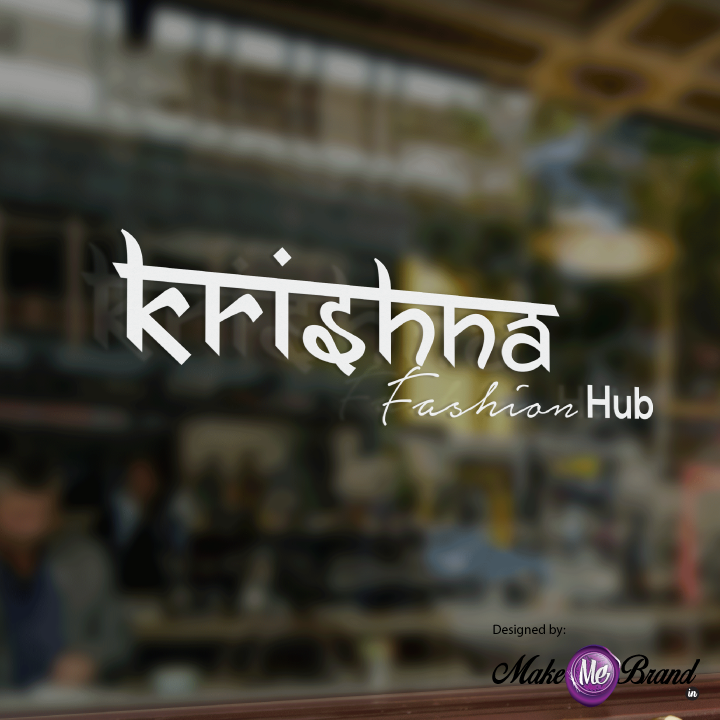 Business Logo Designed For Krishna Fashion Hub At Surat Logo