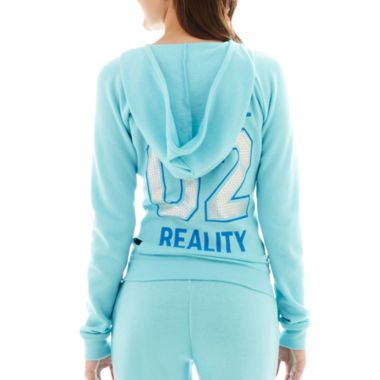 City Streets® Welcome to Reality Long-Sleeve Full-Zip Hoodie  found at @JCPenney