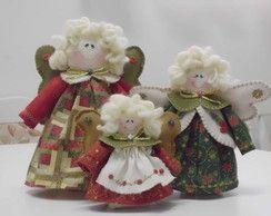 Trio de Anjos Natalinos