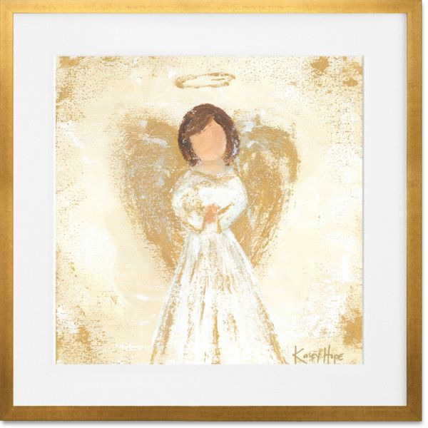 Praying Angel\' by Kasey Hope Framed Painting Print ❤ liked on ...