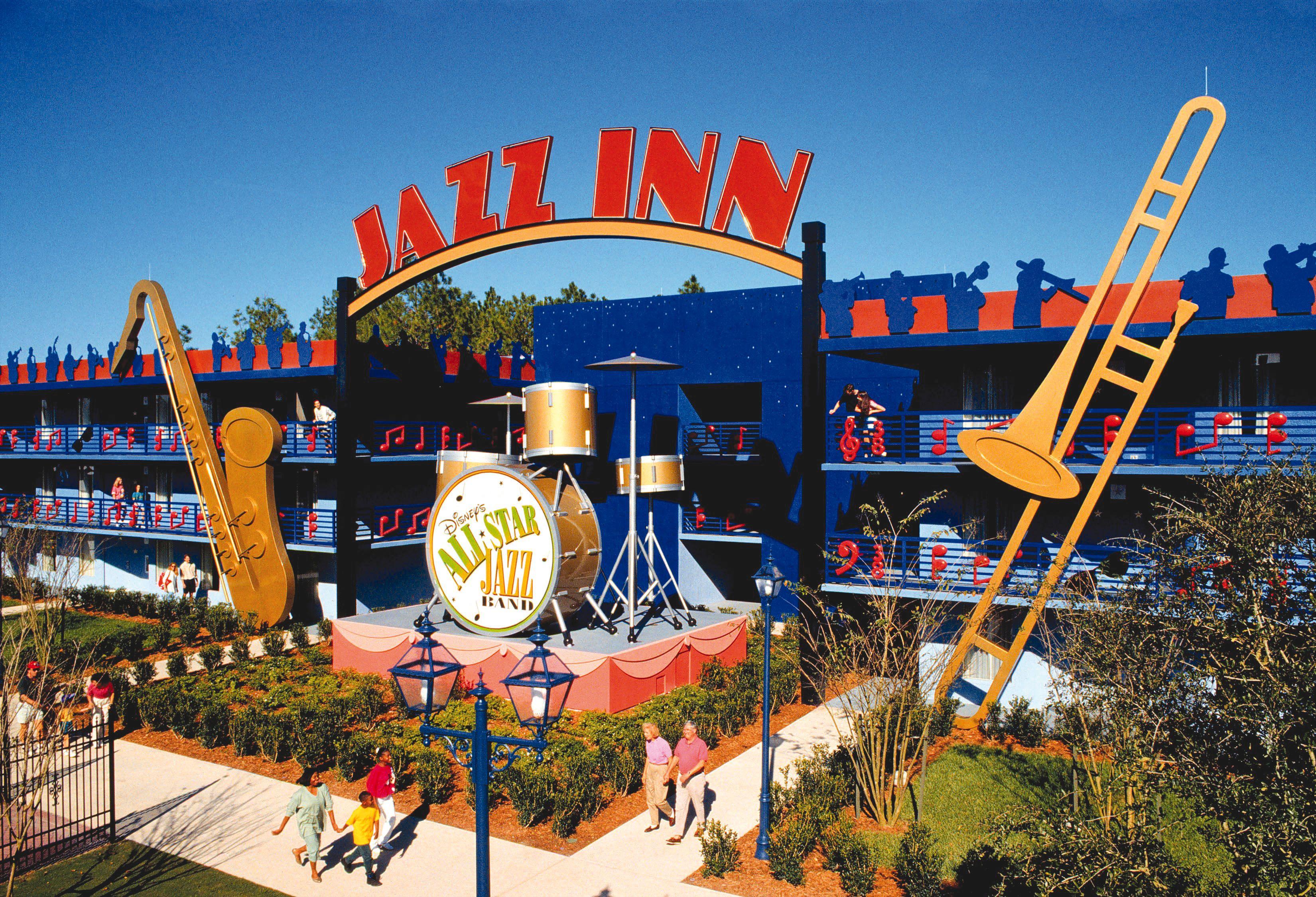 Disney Resort Hotels S All Star Music Jazz Inn Walt