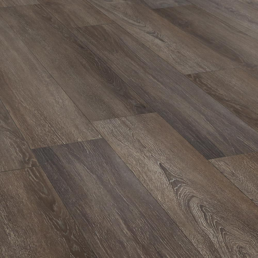 Lifeproof Gainsboro Oak 12 Mm Thick X 8 03 In Wide X 47 64 In Length Laminate Flooring 15 94 Sq Ft Case 361241 21571wr The Home Depot In 2020 Laminate Flooring Flooring Brown Laminate Flooring