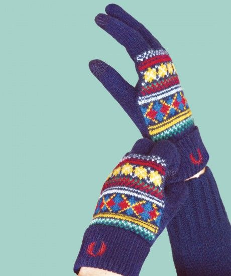 Fred Perry - Fred Perry Fair Isle Gloves | Everything this girl ...