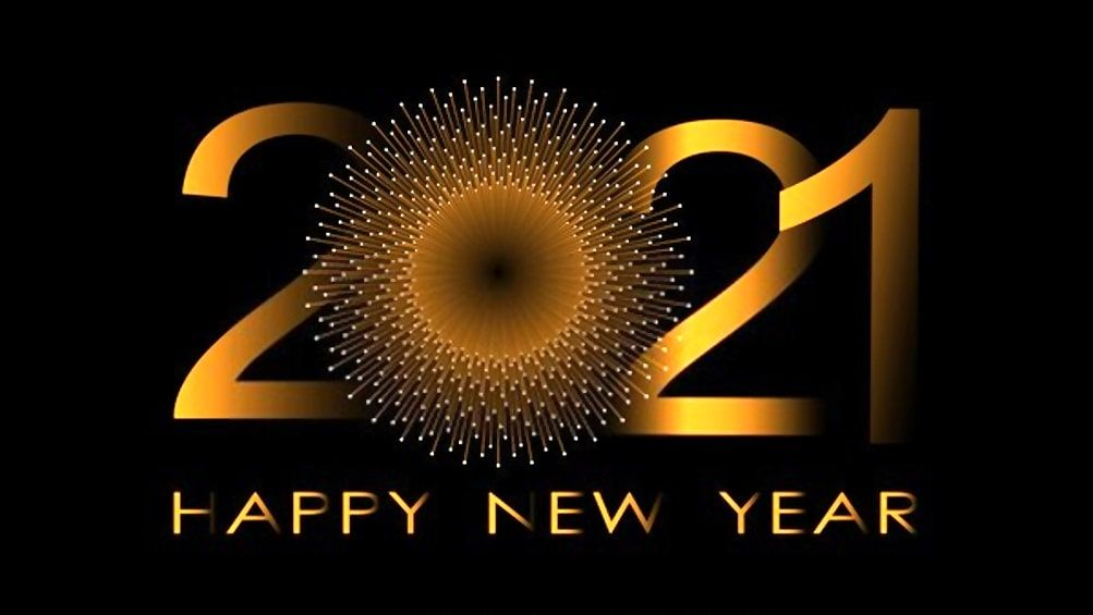 Stunning Happy New Year 2021 Wallpaper in 2020 | Happy new year wallpaper, Happy  new year message, Happy new year images
