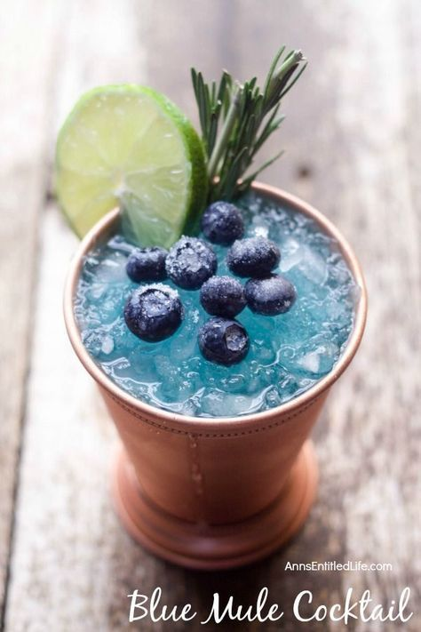 Mule Cocktail Recipe. A fun, sweet update to the classic Moscow Mule, this Blue Mule is a beautiful cocktail drink that tastes great.