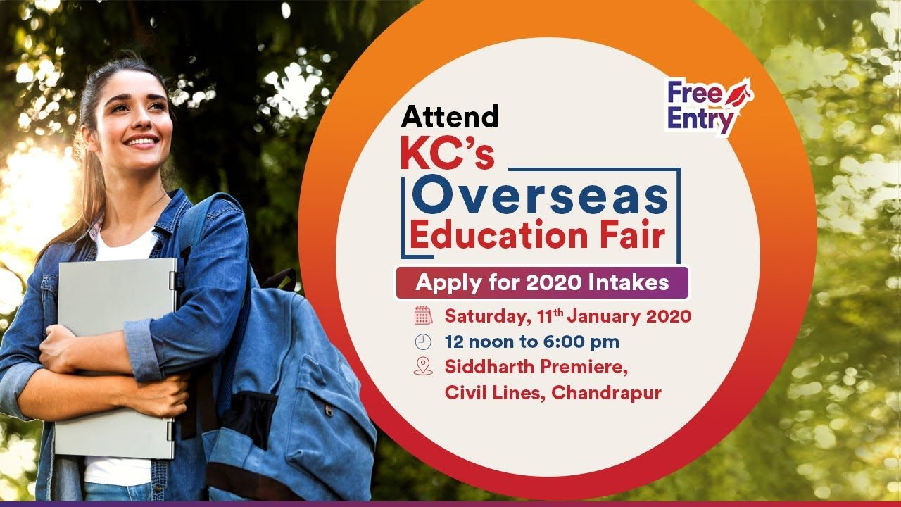 KC's Overseas Education Fair in Chandrapur Saturday