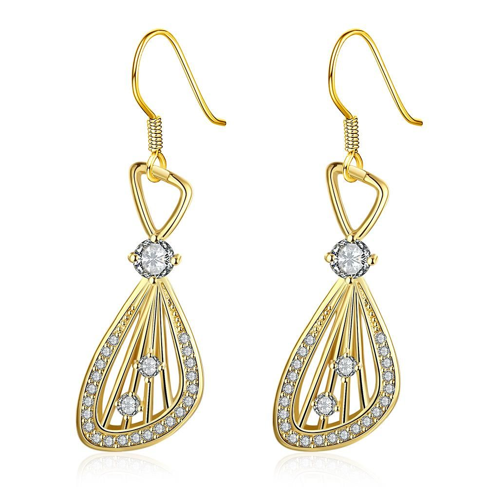 [Sponsored]Women's 18K Real Rose Gold Plated Raindrop Hanging Earrings rHlZJT68X