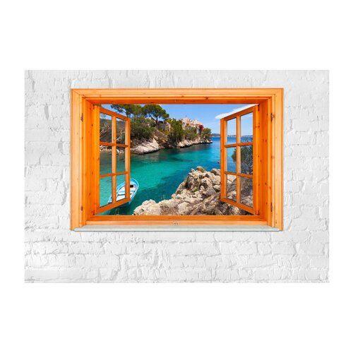 Photo of Glatte Fototapete Mediterranean Landscape East Urban Home Größe: 210 cm H x 300 cm B x 0,02 cm T