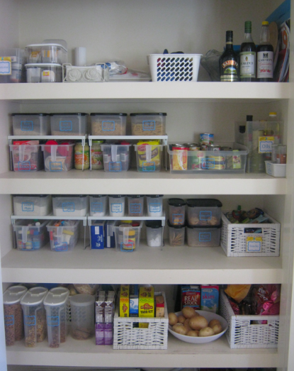 organised pantry includes details about each zone pantry organisation pantry on organizing kitchen cabinets zones id=70612