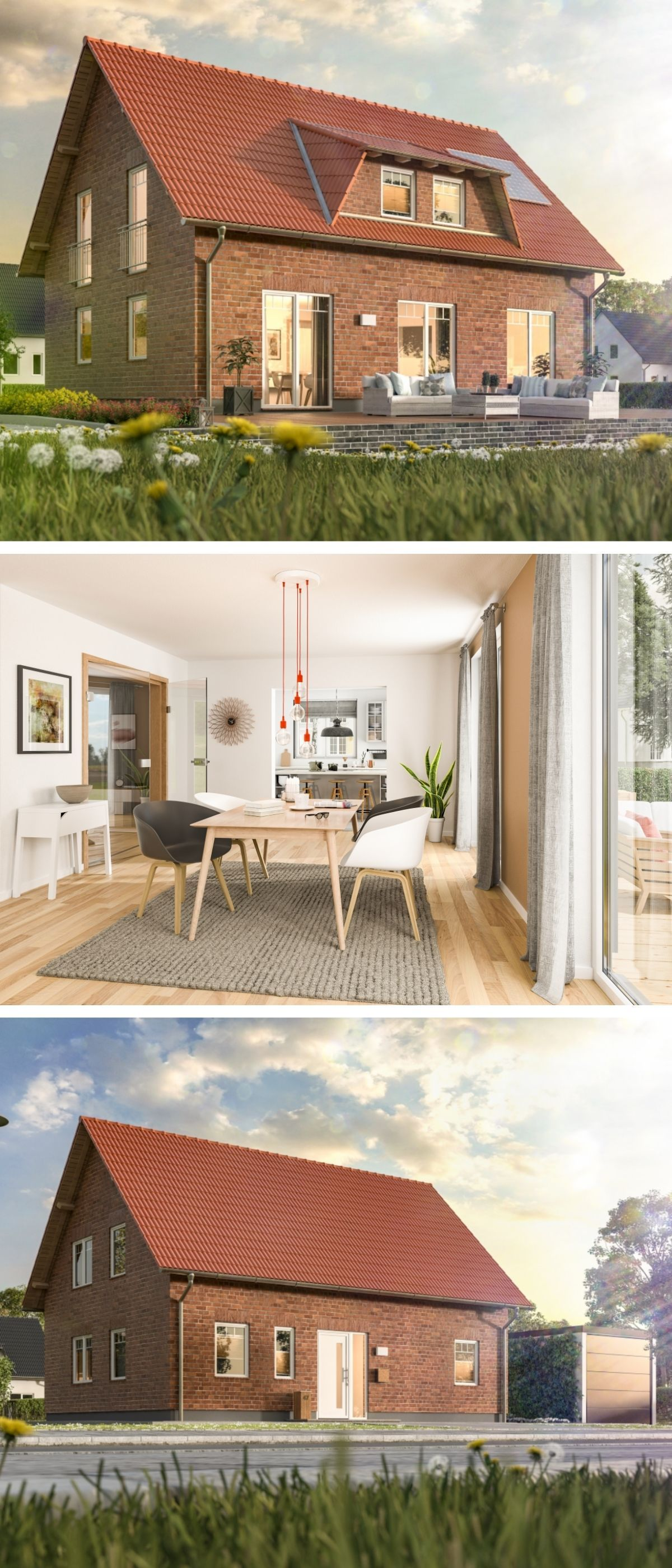 Einfamilienhaus Architektur im Landhausstil mit Klinker ...
