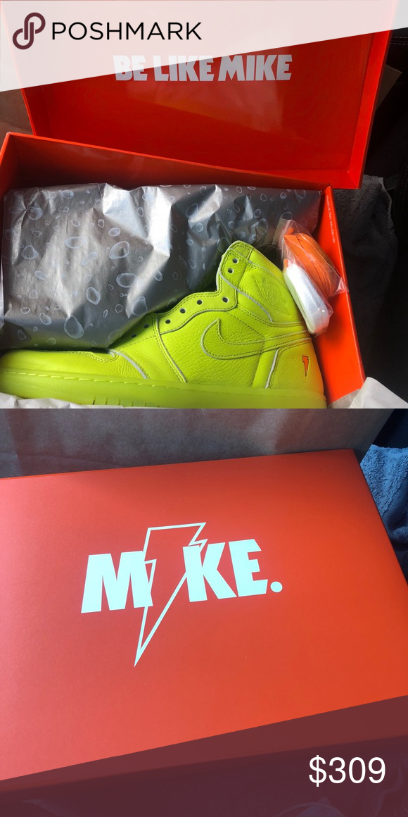 6986f9064c1 Retro High OG Air Jordan 1 Lemon-Lime Gatorade. Size 10.5. In original box.  Lemon lime, white, and orange alternate laces included.