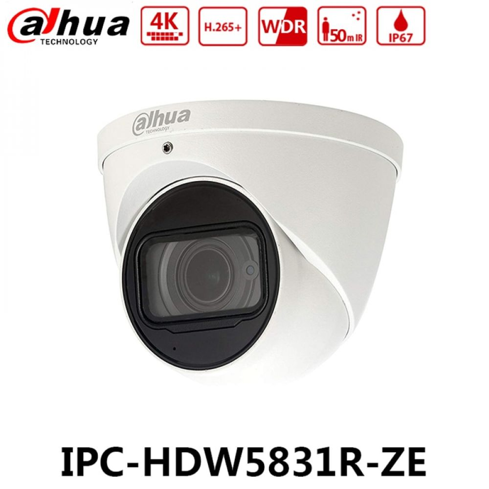 Camera De Surveillance Exterieur Dahua Dahua Ipc Hdw5831r Ze 4k 8mp Wdr Ir Eyeball Network Camera Poe 2 7