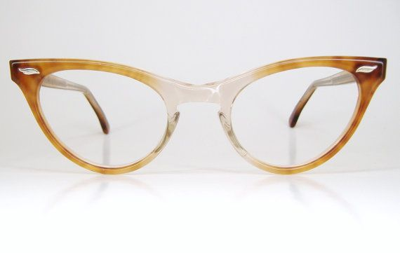 Vintage 50s Two Tone Cat Eye Eyeglasses Frame  NOS