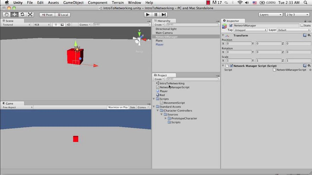 Unity: Tutorial on intro to networking   Unity3D tutorials
