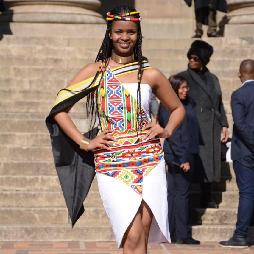 African ndebele queen with a degree african fashion