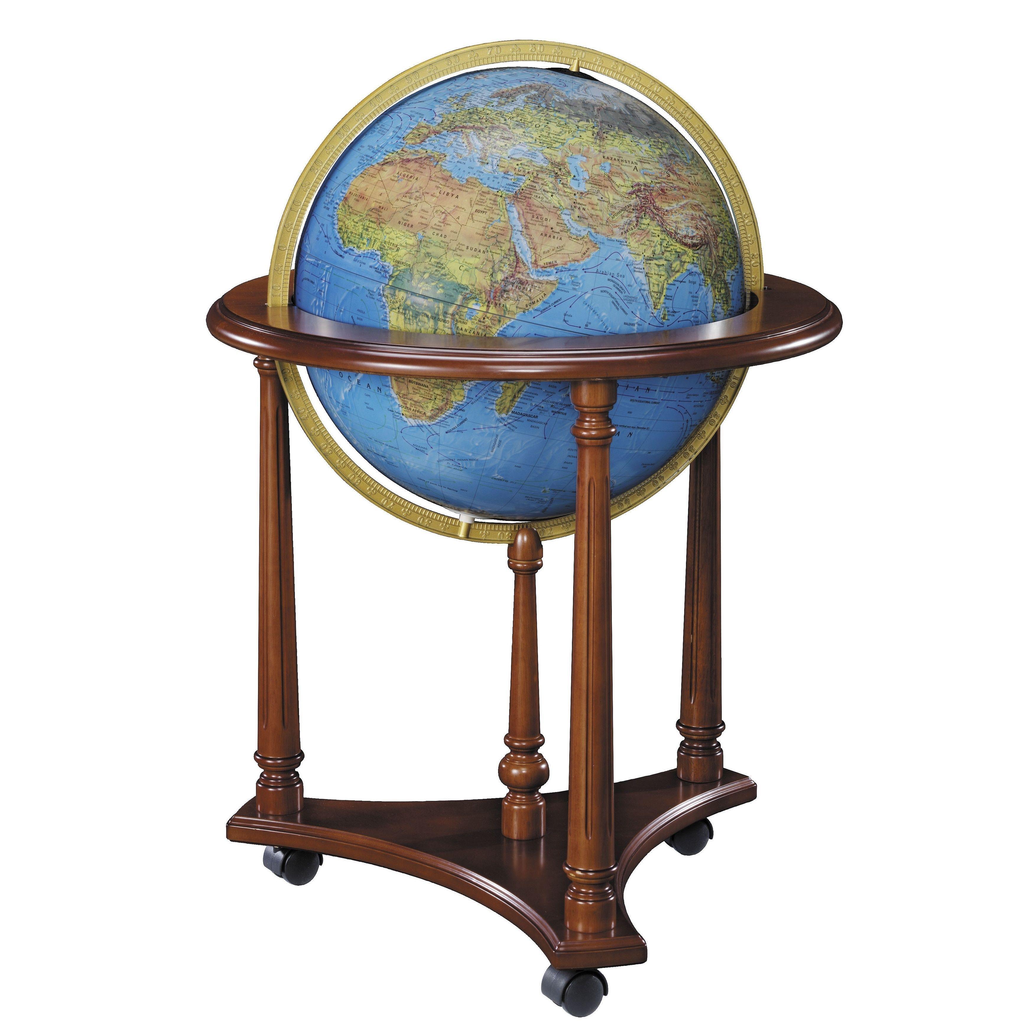 LaFayette Illuminated Floor World Globe