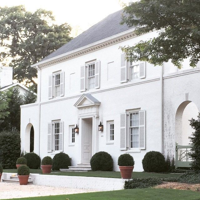 A Neo Classical White On White House In Birmingham Designed By