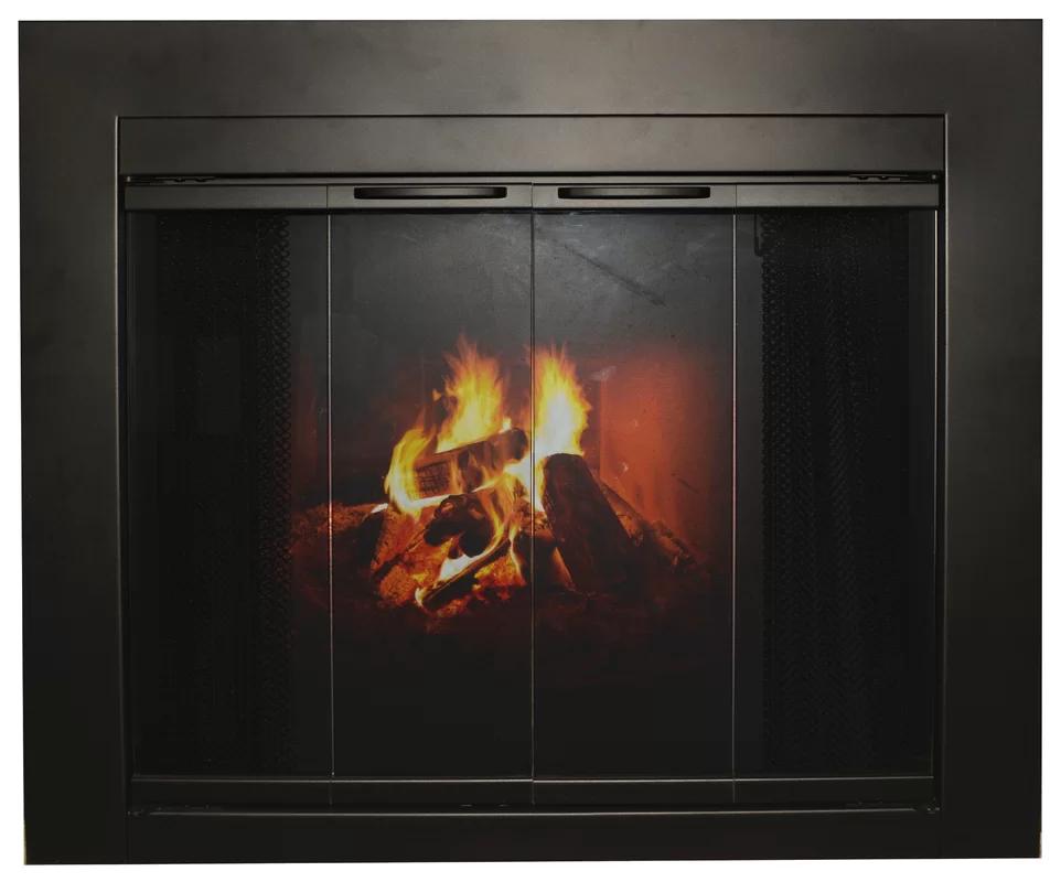 Ebern Designs Acein Steel Fireplace Doors In 2020 Fireplace
