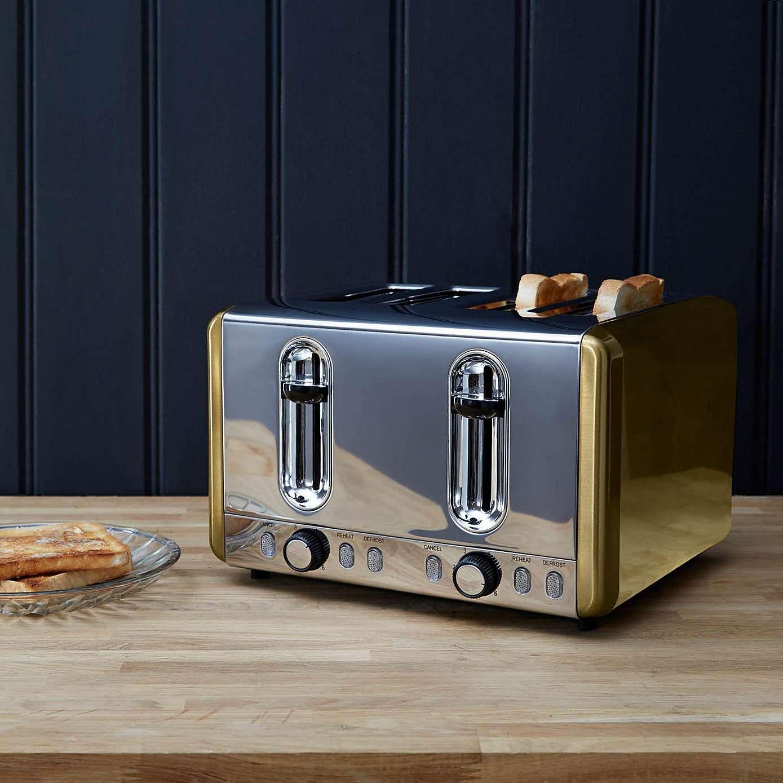 Dunelm Gold Effect 4 Slice Toaster Dunelm Toaster Kettle And Toaster Set Kettle And Toaster