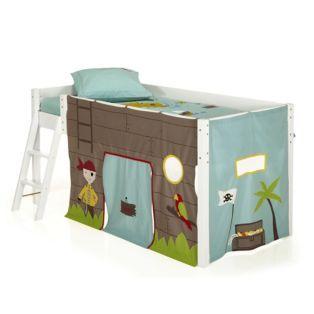 Lit mi-haut avec tente pirate Snow - Les meubles pour chambre enfant ...
