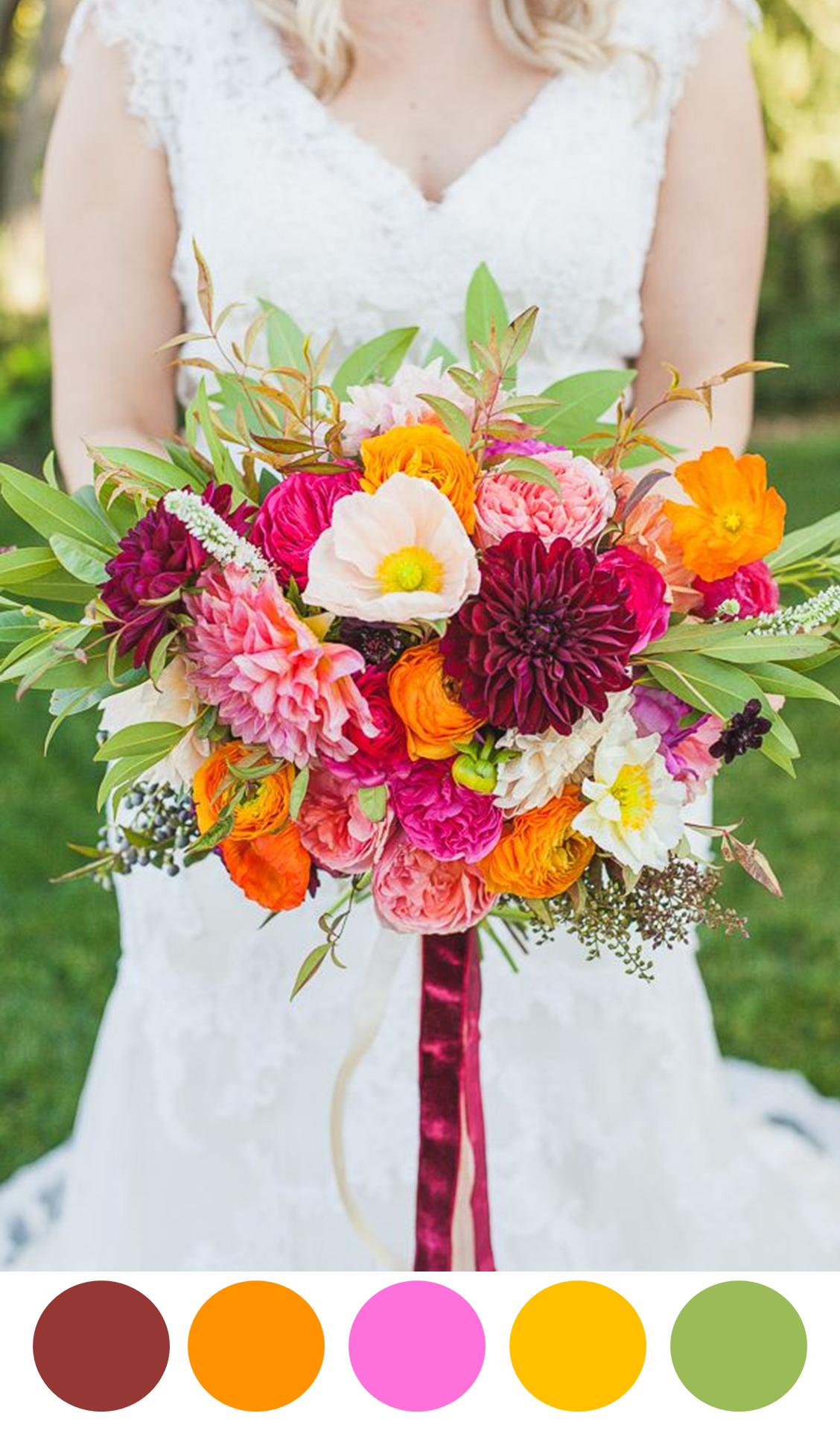 10 colorful bouquets for your wedding day brautstr u e. Black Bedroom Furniture Sets. Home Design Ideas