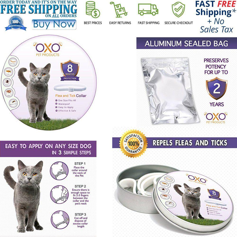 NEW Natural Cat Flea and Tick Collar Adjustable Waterproof
