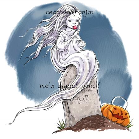 Ghost Girl Halloween prints, Ghost, Cute images