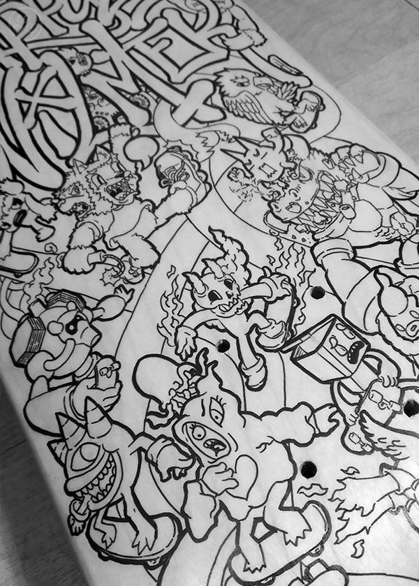 17ed4bebd3d5 Skateboard Doodle Art on Behance   IT'S ALL OVER!   Doodle art ...