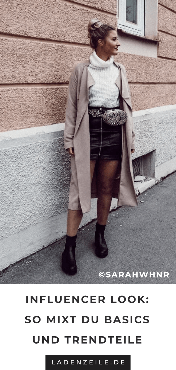 Photo of Influencer look: fanny pack with a leather skirt