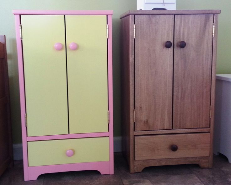 Wardrobe Closet For 18 Inch Doll Clothes