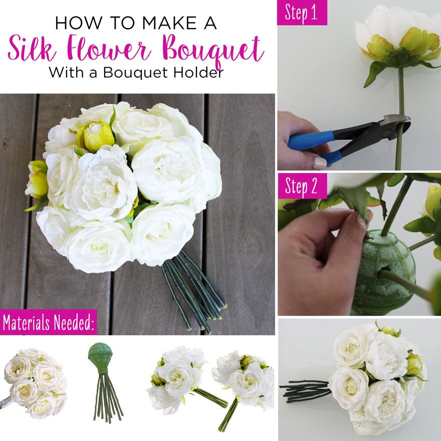 How To Make A Silk Flower Bouquet With A Bouquet Holder